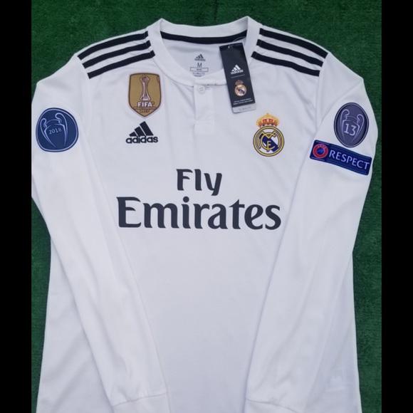 e16376f55 adidas Shirts | 1819 Real Madrid Soccer Jersey Long Sleeve Bale ...
